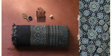 अंजन ◉ Ajrakh Handloom Maheshwari Saree ◉ 2