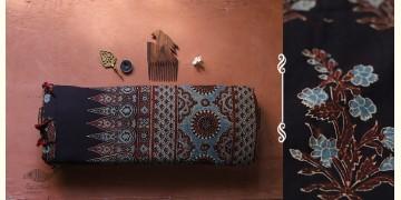अंजन ◉ Ajrakh Handloom Maheshwari Saree ◉ 4