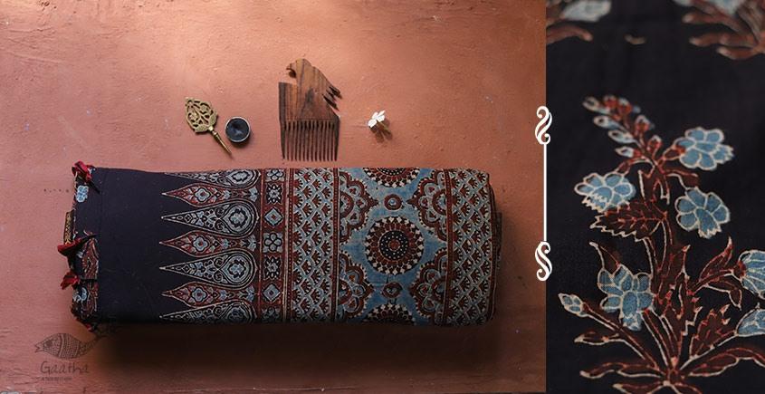 shop online Ajrakh printed maheshwari saree