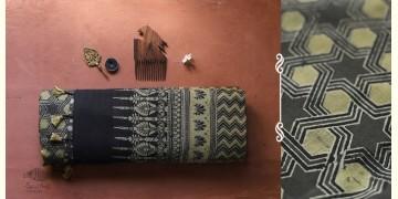 अंजन ◉ Ajrakh Handloom Maheshwari Saree ◉ 5