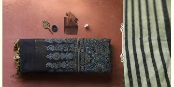 अंजन ◉ Ajrakh Handloom Maheshwari Saree ◉ 6