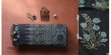 अंजन ◉ Ajrakh Handloom Maheshwari Saree ◉ 7