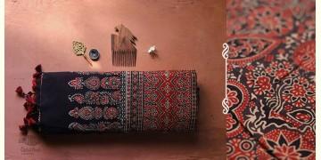 अंजन ◉ Ajrakh Handloom Maheshwari Saree ◉ 8