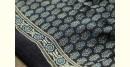 Ajrakh Print Modal  Silk Saree with Zari Pallu - dark brown print