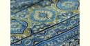 Ajrakh Print Modal  Silk Saree with Zari Pallu - Blue and Black