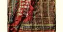 Ajrakh Print Modal  Silk Saree with Zari Pallu - red and yellow full zari / all over zari