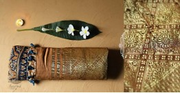 Celestial Decorations - Modal Silk Ajrakh Saree with Zari Pallu - 26