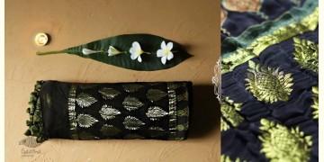Celestial Decorations - Modal Silk Ajrakh Saree with Allover Zari Design - 34