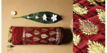 Celestial Decorations - Modal Silk Ajrakh Saree with Allover Zari Design - 35