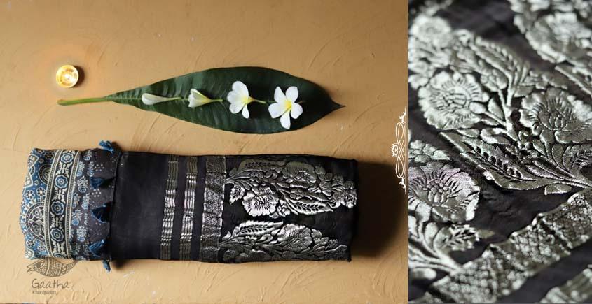 Celestial Decorations - Modal Silk Ajrakh Saree with Zari Pallu - 28
