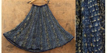 Flowers in a River ~ Ajrakh Skirt {Long}~ 1