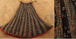 Flowers in a River ~ Ajrakh Skirt {Long}~ 3