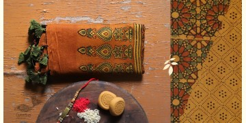 पर्व | Chanderi Ajrakh Stole - 7