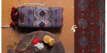 पर्व | Chanderi Ajrakh Stole - 9