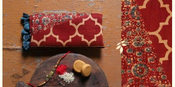 पर्व | Chanderi Ajrakh Stole - 12