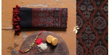 पर्व | Chanderi Ajrakh Stole - 13