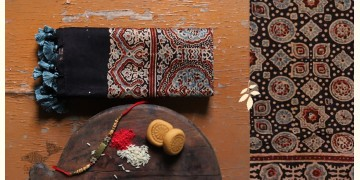 पर्व | Chanderi Ajrakh Stole - 17