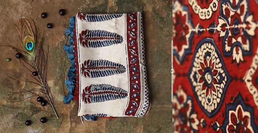 buy online ajrakh modal silk dupatta