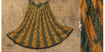 Flowers in a River ~ Ajrakh Skirt {Long}~ 13
