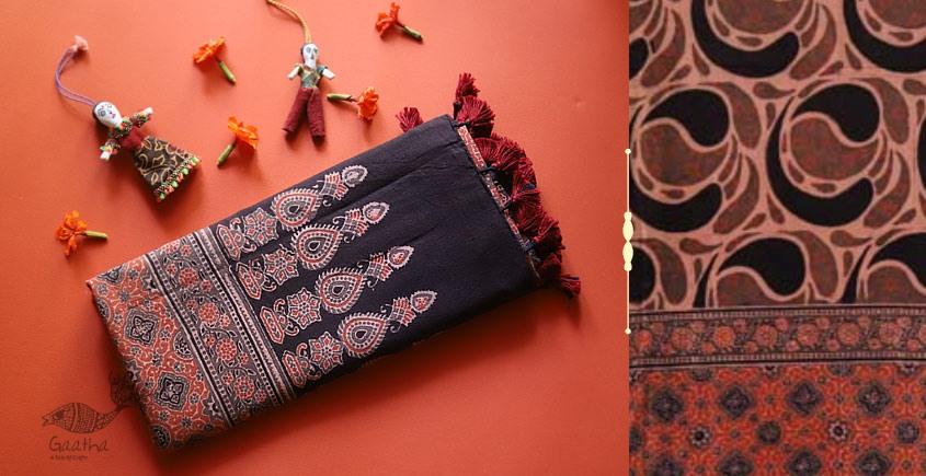 Full size ajrakh pure cotton dupatta