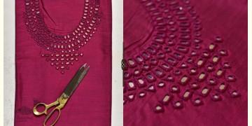 Saheli ☀ Embroidered Slub Silk Dress Material ☀ 31