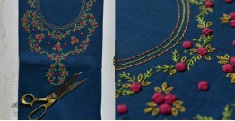 Saheli ☀ Embroidered Linen Cotton Material ☀ 45