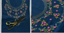 Saheli ☀ Embroidered Linen Cotton Material ☀ 60