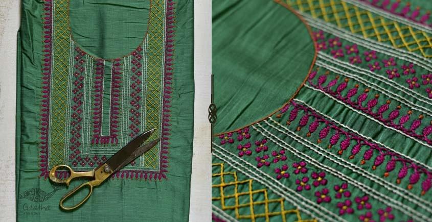 Saheli ☀ Embroidered Slub Silk Dress Material ☀ 43