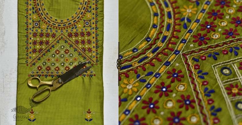 Saheli ☀ Embroidered Slub Silk Dress Material ☀ 55