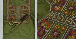 Saheli ☀ Embroidered Slub Silk Dress Material ☀ 61