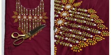 Saheli ☀ Embroidered Slub Silk Dress Material ☀ 62