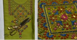 Saheli ☀ Embroidered Slub Silk Dress Material ☀ 65