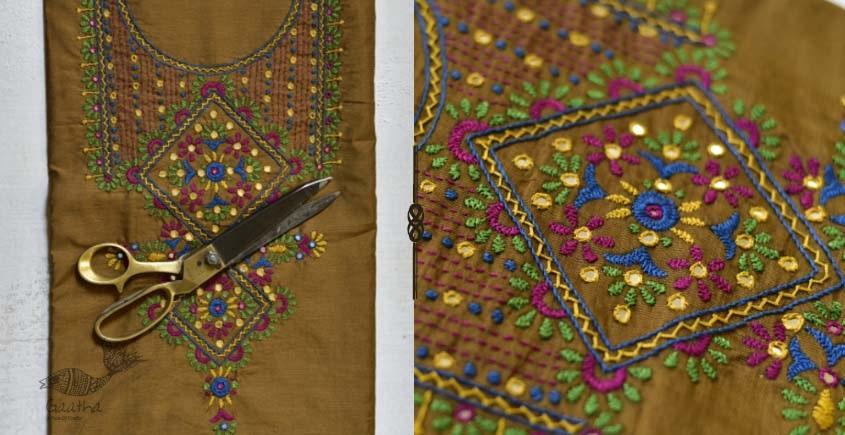 Saheli ☀ Embroidered Slub Silk Dress Material ☀ 66