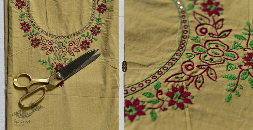Saheli ☀ Embroidered Cotton Dress Material ☀ 63