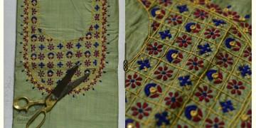 Saheli ☀ Embroidered Slub Silk Dress Material ☀ 49
