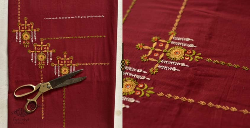 Saheli ☀ Embroidered Cotton Dress Material ☀ 27