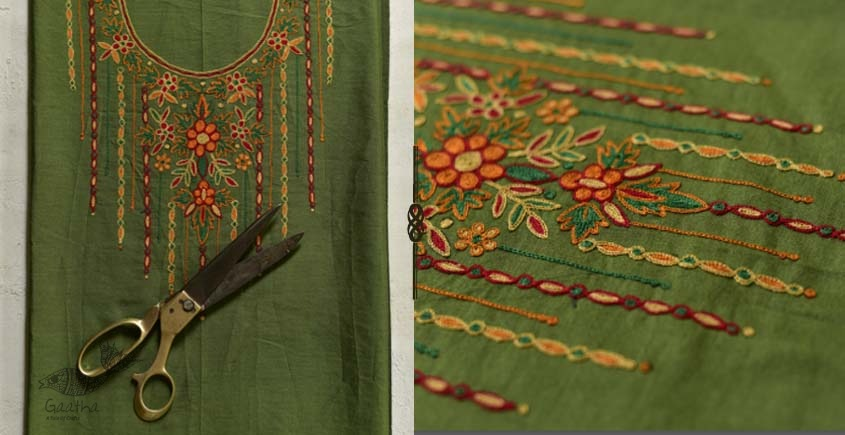 Saheli ☀ Embroidered Cotton Dress Material ☀ 9