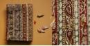 Kalamkari . Block Print . Bedsheet { Natural Color } ❋ C
