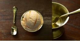 "Kansyam . कांस्यम ✾ Kansa Ice Cream Bowl with Spoon - 3.5"" x 3.5"" x 2.5"""