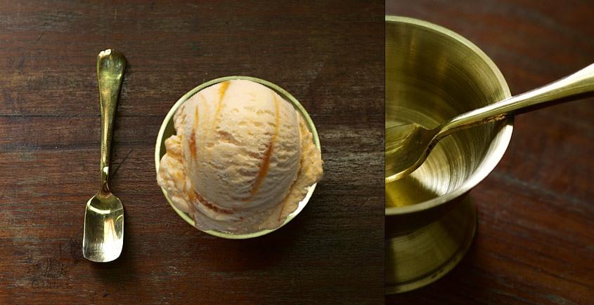 Shop online kansa ice cream bowl with Spoon
