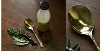 """Kansyam . कांस्यम ✾ Kansa Serving Spoon Ladle - 8"""" x 2"""""""