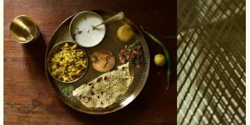 "Kansyam . कांस्यम ✾ Kansa Thali Set (11"" Thali + Bowl + Glass + Spoon + Small Dish)"