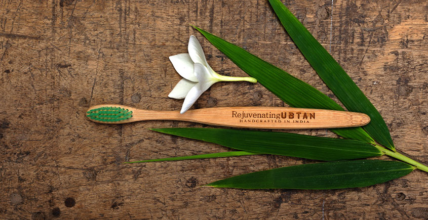 Ubtan ☘ Bamboo Tooth Brush ☘ 18 { Pack of 4 }