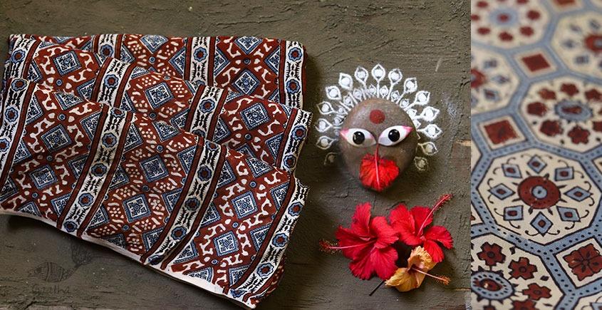 देविका ❋ Ajrakh Modal Silk Saree { with Blouse } ❋ 14