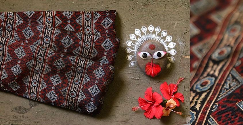 देविका ❋ Ajrakh Modal Silk Saree { with Blouse } ❋ 15