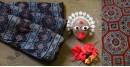Modal silk traditional print ajrakh saree indigo color