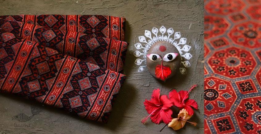 देविका ❋ Ajrakh Modal Silk Saree { with Blouse } ❋ 9