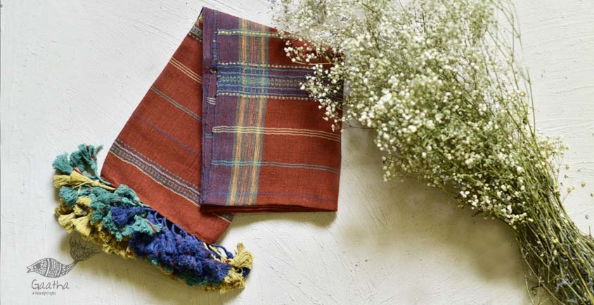 handwoven kala cotton bhujodi Stole