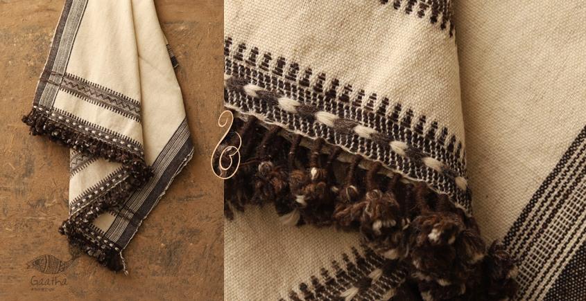 Salt Deserts of Kutch ❅ Hans spun ❅ Raw woolen Shawl ❅ E