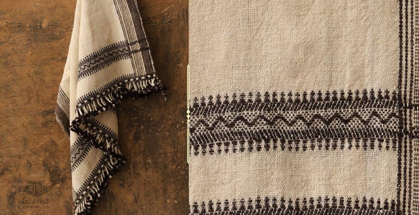Salt Deserts of Kutch ❅ Hand spun ❅ Raw woolen Shawl ❅ K